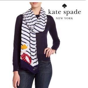 "Kate Spade ♠️ ""Percy on a Stripe"" Scarf"
